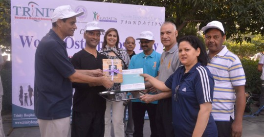 Walkathon by Trinity Hospital marks world osteoporosis day 2015
