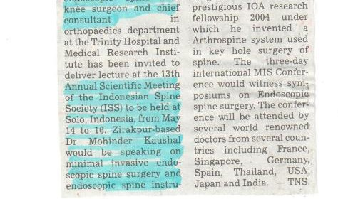 Annual Scientific Meeting of Indonesian spine society (ISS)