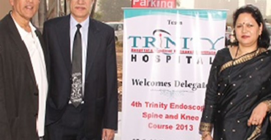 4th Trinity Endoscopic Spine & Knee Course  – 7 & 8 Dec 2013 (Dr Jean Destandau, International faculty at the course)