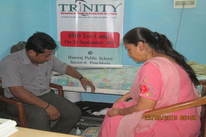 BMD test Camp for teachers of Hans Raj Public School, Panchkula on 24 September 2013