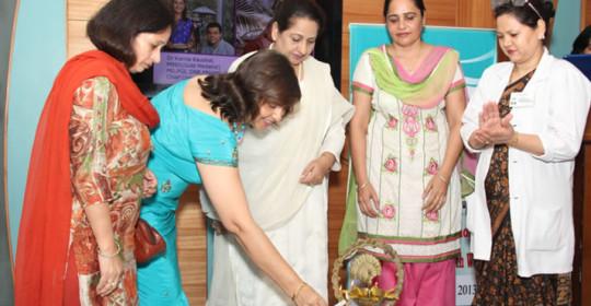 Celebrating Women & Pregnancy Health Week  07 July  – 14  July 2013 Health camp inaugurated by eminent Punjabi Singer, Dolly Guleria