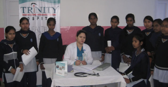 Health Camp for girl students at Govt. Model School, Chandigarh  Jan 2014