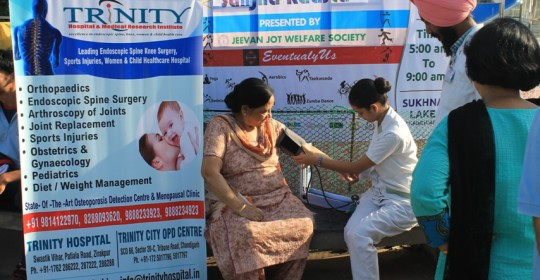 Health Partner for Sanjha Rasta Event at Sukhna Lake, Chandigarh on 04 October 2015