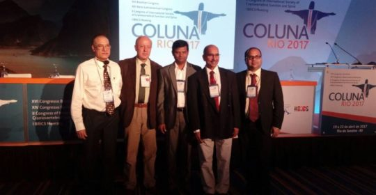 #Dr Mohinder Kaushal, Director. Dept of Orthopaedic, Arthroscopy, Sports Medicine & Endoscopic spine surgery, representing  Association of Spine Surgeons of India (First BRICS meeting) in XVI Brazilian Spine  Congress in Rio, Brazil.