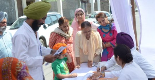 5th Anniversary celebrations, Trinity Hospital and Medical Research Institute, Swastik Vihar Zirakpur organised a Free Medical Camp