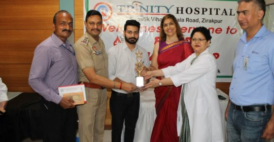 Trinity Hospital &Medical Research Institute, Zirakpur Organized a a Blood Donation Camp atits Premises on 19 th June 2018