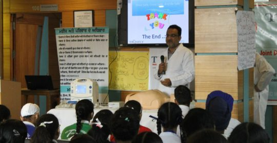 """IOA National bone and joint day this year's theme was """"Road Safety""""."""