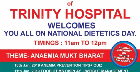 Trinity Hospital, Zirakpur, observed National Dietetics Day