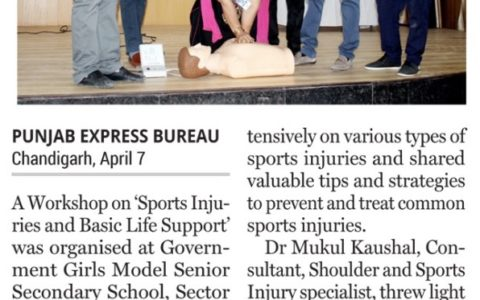 Sports Injuries & BLS Workshop conducted by Trinity Hospital